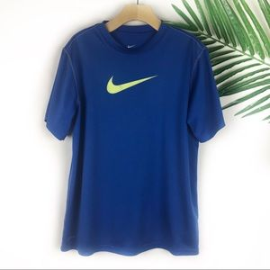 Nike Boys T Shirt Blue Large